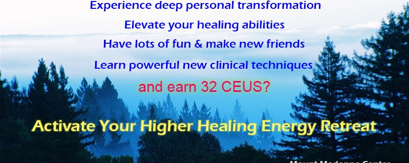 What a great time to go on retreat!   Activate your higher healing energy November 30 – December 4
